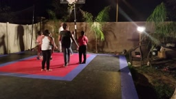 ULTIMATE BASKETBALL CHALLENGE 1 ADULT v 6 KIDS 1st to 35 WINS! AP spots J Funk & Friends GAME POINT