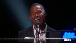 Jamie Foxx Amazing voice. The last song is my favorite song of Anita Baker   Giving You The Best That I Got. BETAwards