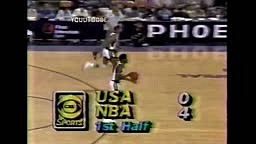 College Michael Jordan Destroys Magic Johnson and Isiah Thomas lead NBA All Star team