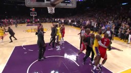 Rondo and CP3 threw hands in Lakers Rockets brawl