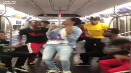 Hyper Active Dancers Getting BUSY in them Nyc Subways