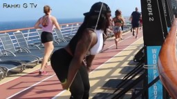 Early Morning Cardio Workout with Female Body Builder Rahki Giovanni Tv