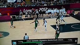 JAMES HARDEN GETS CROSSED INTO A SPLIT VS NIGERIA