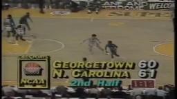 Michael Jordan's game winner vs. Georgetown (1982)   FINAL MINUTE