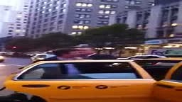 Two Men Fight Over Taxicab in NYC