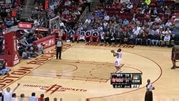 James Harden gives imaginary handshake and five to teammates
