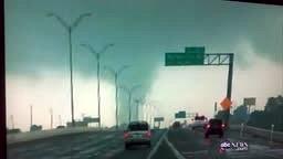 Tornado throws tractor trailer in Texas