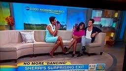 Sherri Shepard, castoff of Dancing WTS, on Good Morning Amer
