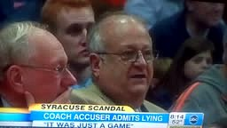 Syracuse Sex Scandal, Coach Accuser Admits Lying