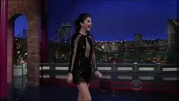 Selena Gomez Jokes to Letterman about making Bieber cry
