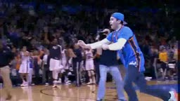 Kevin Durant Tackles OKC fan who hit $20,000 half court shot