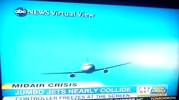 Jumbo Jets Nearly Crash in Air-Rookie Controller Freezes