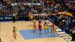 Andre Iguodala sick handles and alley oop pass to Kenneth Faried For Slam Dunk