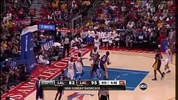 Blake Griffin Finger roll Dunk vs Lakers