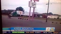 Train Crashes Into 18 Wheeler Truck Cuts it in Half