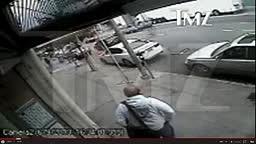Surveillance Footage Of 2 Chainz Running Getting Robbed