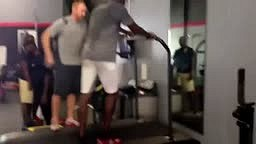 BEAST MODE WATCH Chad Johnson RUN 24 mph at 2.5 incline elevation