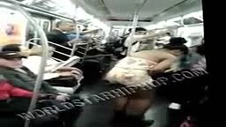 GIRL PEES ON HERSELF ON NYC TRAIN!!