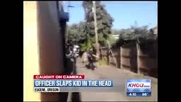 Caught On Camera: Officer Slaps Kid in The Head - OREGON