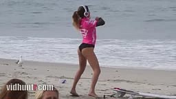 Surfer Anastasia Ashley Twerking Warm-Up Dance