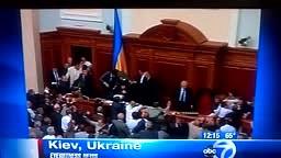Members Hospitalized over Shocking Fight in Ukraine's Parlia