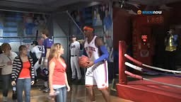 Carmelo Anthony Pretends to be Wax Figure