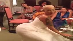"Amber Rose Twerking In Her Wedding Dress! ""ORIGINAL VIDEO"""