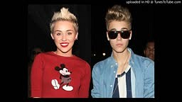 Justin bieber Miley Cyrus New Song- TWERK
