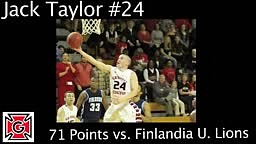 Jack Taylor 71 Points in 1st Game of The Season