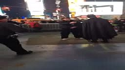 Batman Gets Gangsta In Front of Cops