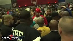 Mayweather gets shot PUNCHED during Celeb Game