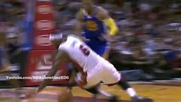 WTF! Lebron Leaves SKID MARK on the court after Fall