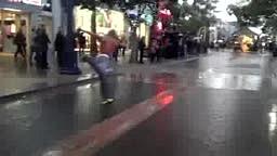 Better than MJ Black Guy SUPER Moon Walking