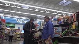 Animal behavior prank at Wal-Mart