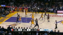 Lance Stephenson Dunks on Lakers