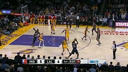 Lance Stephenson Dunks on Lakers