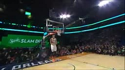Drake Passes Alley Oop to Toronto Raptors Terrence Ross' for between the legs DUNK Nba All Star Dunk Contest 2014