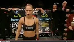 Rousey vs Mcmann Round 1 TKO
