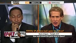 Skip Bayless Tells Stephen A Smith the Spurs Will Beat Miami Heat in 2014 Nba Finals Championship