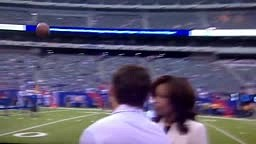 Pam Oliver Hit in The Face With Football Errant Pass By Chan