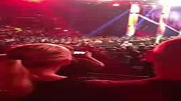 CM Punk Hits Fan in Sacramento WWE Raw 10-08-12