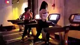 Singer Mya Treadmill Workout with Fitness Trainer Nicole Winhoffer