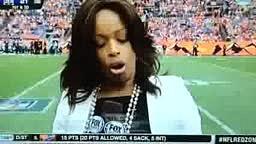 Pam Oliver Struggling With Her Halftime Report