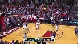 Awesome OT Ending Between the Warriors and Blazers