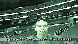 UNBELIEVABLE! Injured Kobe Bryant Makes INSANE Half Court Shot With his LEFT HAND