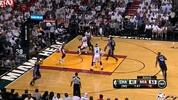 Lebron James DUNKS on Charlotte Bobcats in Playoffs