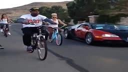 Floyd Mayweather Rides Bugatti BIke