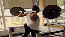 Ludacris sexy girlfriend Eudoxiee working out at the gym