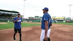 Tracy McGrady on the Mound with Grant Hill on NBA Inside Stu