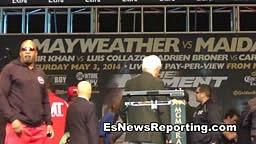 Floyd Mayweather vs Marcos Maidana Weigh ins Full HD